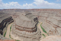 goosenecks Юта каньона стоковое изображение