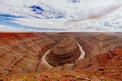 Goosenecks het Park van de Staat, de Reserve van de Staat, Utah, de V.S. Royalty-vrije Stock Foto's
