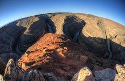 Goosenecks het Park van de Staat, Utah Stock Afbeelding