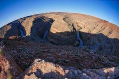 Goosenecks het Park van de Staat, Utah Royalty-vrije Stock Foto's