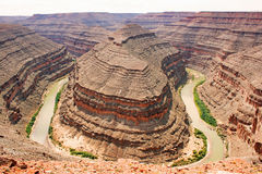 Goosenecks het Park van de Staat, Utah, 3 Royalty-vrije Stock Fotografie