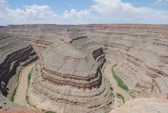 goosenecks Utah φαραγγιών Στοκ Εικόνα