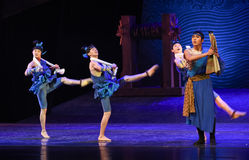 """Goosestep-Dance drama """"The Dream of Maritime Silk Road"""". Dance drama """"The Dream of Maritime Silk Road"""" centers on the plot of two generations of stock images"""