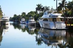 Goot & jachten in Fort Lauderdale, Florida royalty-vrije stock afbeelding