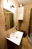 Bruine badkamers Stock Afbeeldingen