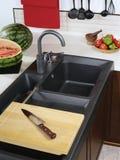Gootsteen voor keukenwaren Stock Fotografie