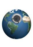 Gootsteengat op de aarde. Royalty-vrije Stock Foto's