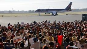 GOP总统候选人唐纳德・川普竞选在萨加门多, 免版税库存图片