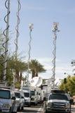 Gop-Debatte-weltweite Fernsehnachrichten-Besatzungen lizenzfreie stockfotografie