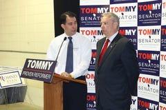 GOP Gov. Scott Walker, and GOP U.S. Senate Candida stock image