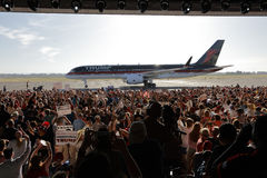 GOP kandyday na prezydenta Donald atut Prowadzi kampanię W Sacramento, Zdjęcie Royalty Free