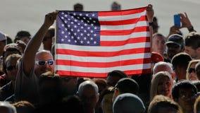 Gop-presidentkandidat Donald Trump Campaigns In Sacramento, Arkivfoton