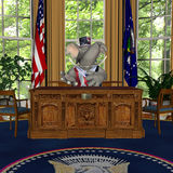 GOP Speech. From the Oval Office Represented by a Republican Political Elephant stock illustration