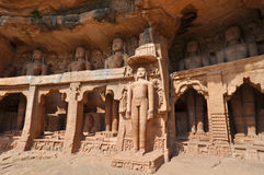 Gopachal Parvat Statues, India Royalty Free Stock Image