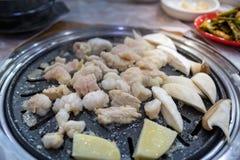 Gopchang jelita krowa, Piec na grillu Koreański jedzenie obraz stock