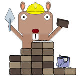Gopher bricklayer Stock Photos