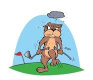 Gopher e golfball illustrazione di stock
