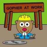 Gopher's manhole Royalty Free Stock Photos