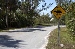 Gopher tortoise sign on dunlop road Stock Photo