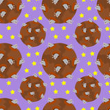 Gopher's in moon craters seamless background design Stock Photo