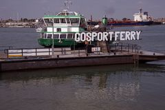 Gosport Ferry The Hard Portsmouth. Goport Ferry entering Portsmouth Harbour Stock Photos