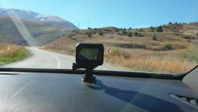 GoPro行动凸轮录音roadtrip,Kemaliye,埃尔津詹,土耳其 股票录像