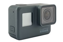 GoPro被隔绝的英雄6黑色 库存照片
