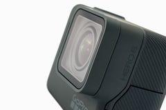 GoPro被隔绝的英雄6黑色 免版税库存图片