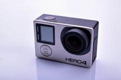 GoPro bohatera 4 kamera Zdjęcia Stock