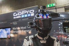 GoPro camera on display at EICMA 2014 in Milan, Italy Stock Image