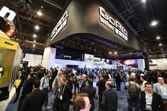 GoPro at CES 2016 Royalty Free Stock Images