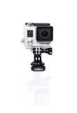 GoPro-Held 3+ Actioncam auf Weiß Stockbilder