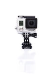 GoPro Hero 3+ Actioncam on white Stock Images