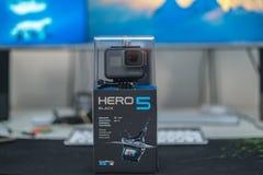 Gopro Hero 5 in the Box Stock Photo