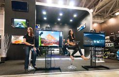 GoPro stand at Consumer Electronics. & Photo Expo on the 13th of April 2012 in Moscow, Russia Stock Photos