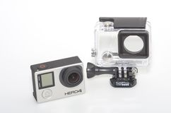 GoPro 4 and submersible housing Royalty Free Stock Photos