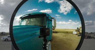 GoPro Time Lapse Looking Into Semi Truck Mirror