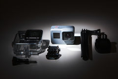 GoProheld 5 actiecamera met toebehoren Royalty-vrije Stock Afbeelding