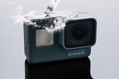 GoProheld 5 actiecamera onder water Stock Fotografie