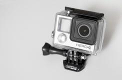 GoProhero4 Zwarte Uitgave op witte achtergrond Stock Afbeelding