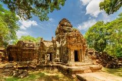 Gopura antique de temple de som de ventres dans Angkor, Siem Reap, Cambodge Photos stock