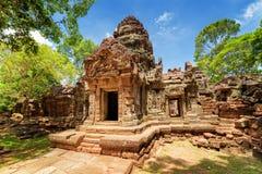 Gopura de temple antique de som de ventres dans Angkor, Siem Reap, Cambodge Images libres de droits