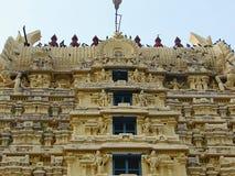 Gopura Gopuram - uma porta em templos hindu do estilo de Dravidian Foto de Stock Royalty Free