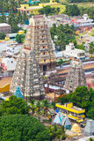 Gopura (towers) of Dravidian Temple Royalty Free Stock Photos