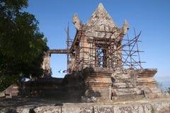 Gopura V il portone cambogiano dell'entrata al tempio del XI secolo di Preah Vihear Fotografie Stock Libere da Diritti