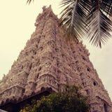 Gopuram寺庙在印度 免版税图库摄影