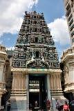 gopuram élevé de 23m de Sri Mahamariamman, temple du temple hindou le plus ancien photo libre de droits