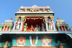 Украшение крыши виска Sri Vadapathira Kaliamman стоковое изображение rf