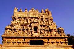 Gopuram de temple de darasuram Images libres de droits