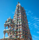 Gopuram Hindu temple. On the island of Sri Lanka against a background of blue sky royalty free stock photo